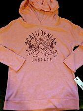 New Sonoma Misses Size M Orange Hoodie Sweatshirt