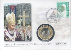 Numisbrief  Vatikan   Papst Benedikt XVI.  Reise nach Mexiko  2012