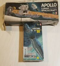 VIntage! Revell APOLLO LUNAR SPACECRAFT/EVERYTHING ISCA GO 1/48 1967 LOT
