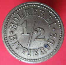 Old Rare Deutsche token -Rittierode - Molkerei - 1/2 - UNLISTED -mehr am ebay.pl