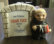 "Vtg. Original ""Friar Tuck"" Series By Goebel Store Sign Monk Red Book"