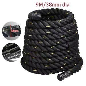 9 m Battle Power Rope Battling Sport Gym Exercise Fitness Training 38mm Dia