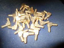 """20 Pieces New, Schneider  Barb Elbow, 90 Degree, Brass, 3/16"""""""