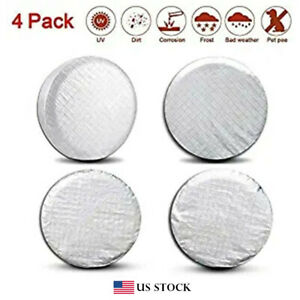 """4PCS Tire Covers for RV Wheel Dia. 26"""" to 27"""" Wheel Tire Protectors Tire Covers"""