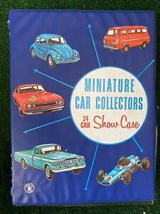 Vintage 1966 Standard Plastic Products Miniature Car Collectors 24 Car Show case