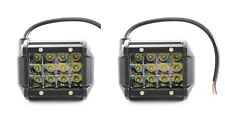 36W 12/24V Spot LED 2x Lights Work Lamps for Boat Tractor Bus SUV 4x4 Truck