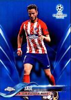 2018 Topps Chrome UEFA Champions League Blue Refractor Singles (Pick Ur Cards)