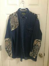 Mens Scottish Greys Hunting Fishing Skeet Shooting Shirt XL Jean Denim Camo L@@K