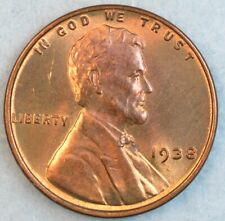 1938 P Lincoln Wheat Cent UNCIRCULATED BU UNC FAST S&H 34047