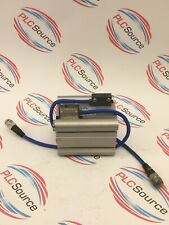 SMC AIR CYLINDER ECDQ2B63-50D-P5DW-197G-NS WITH CONNECTIONS