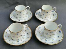 Lot de 4 tasses LITRON porcelaine NYON porcelain cup suisse Swiss
