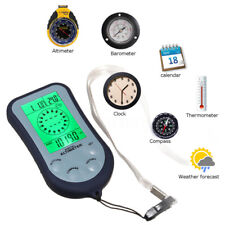Outdoor 4 in 1 Digital Compass Thermometer Clock Stopwatch For Camping Sport