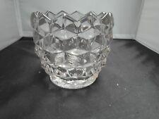 VINTAGE AMERICAN FOSTORIA CUBE GLASS