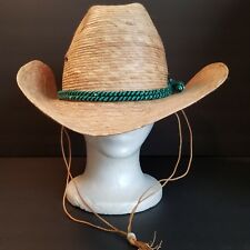 Legitimo Sahuayo Straw Hat Western Cowboy Size 7.25 58 Mexico Made in Mexico