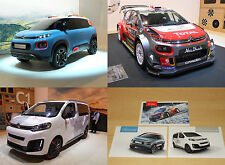 CITROEN lot 3 cartes presse Genève 2017 - C3 WRC C-Aircross Space Tourer 4x4 Ë
