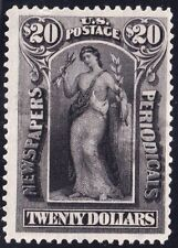 US STAMP BOB #PR123 $20 1895-97 Newspaper Periodicals Stamp UNUSED NG  $15