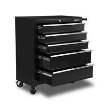 Giantz 5 Drawer Mechanic Tool Box Storage Trolley - Black