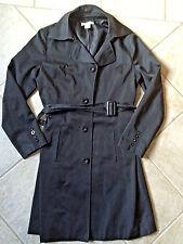 Woman's SMALL S Black 3/4 Length Winter Coat With Belt Dressbarn Bx19