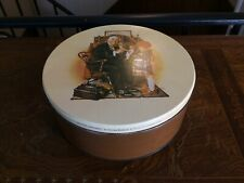 """Gorgeous Vintage Norman Rockwell Maurice Lenell Cookie Tin / Norman Rockwell """""""