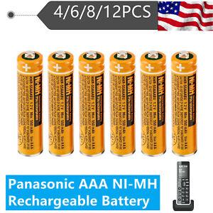 Panasonic HHR-55AAABU AAA NI-MH Rechargeable Battery Cordless Phones 550mAh 1.2V