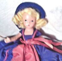 """NANCY ANN STORYBOOK DOLL,BISQUE, 5 1/2""""  AN INDEPENDENT LADY FOR JULY"""