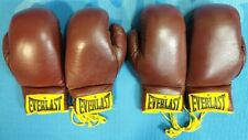 Vintage 1970's EverLast Leather Boxing Gloves - 2 Pair #2914 - Used Only Twice!