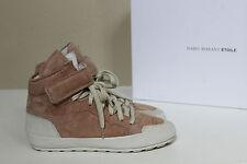 NIB sz 6.5 / 37 Isabel Marant Beige Suede Ankle High Top Booties Sneaker Shoes