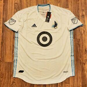 Adidas Minnesota United FC Drift Soccer Jersey White XL MLS New