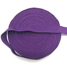 "5yds 3/8"" Purple Fold Over Multirole Elastic Spandex Band DIY Lace Sewing Trim"