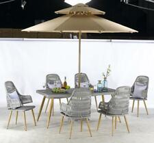 Garden Furniture Set - Table (178cm x 97cm) & 6 Chairs & Paraso