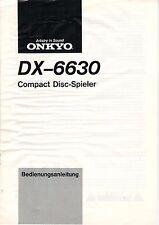 ONKYO - DX-6630 - Bedienungsanleitung - B2899