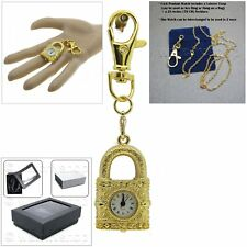 Watch Necklace Key chain Box L41 Gold Women Vintage Locket Style Pendant Pocket