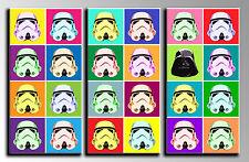 Carreau Moderne Photographie base bois,90x60 cm,Armée de terre Darth Vader,