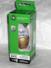 BELL LIGHTING * 4w LED CANDLE SES E14 CLEAR 05695 * WARM WHITE ( BRASS CAP )