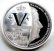 NETHERLANDS, SOLDAAT VAN ORANJE BU Proof Medal 40mm 20g Silver Plated Copper. B9
