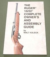 """RUGER 10/22 COMPLETE OWNER'S & ASSEMBLY GUIDE"" HUNTING RIFLE GUN REFERENCE BOOK"