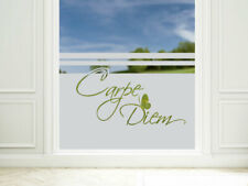 Sichtschutzfolie Fensterfolie Wohnzimmer Küche Glastür Flur Carpe Diem Spruch
