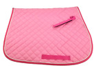 Pink on Pink Heavy Duty Quilted Cotton All Purpose English Saddle Pad Horse Tack