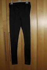Black shiny elasticated leggings - 28in waist, inside leg 28 in