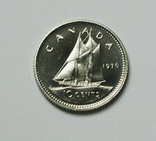 1970 CANADA Elizabeth II Coin - 10 Cents - UNC lustre (from mint set)