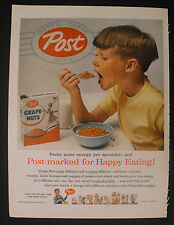 1956 Post Sugar Crisp~Corn Fetti~Sugar Crisp~Toasties~Grape-Nuts Cereal AD