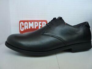 Camper 18552-074 1913 Black Leather Lace Up Mens Shoe