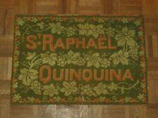 Tapis Ancien Jeux de Cartes St Raphael Qinquina Bistrot Vin Publicitaire Objet