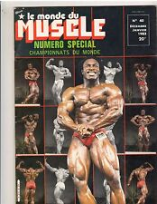 Le Monde du Muscle French Bodybuilding Magazine/Lee Haney/Albert Beckles 1-93
