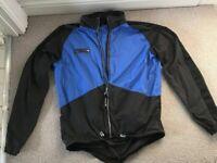 Endura Men's Waterproof Cycling Jacket Windstopper Blue Size L