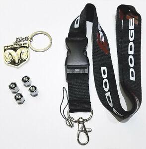HEMI 392 Black Nickel with Brown Leather Stripe Key Chain