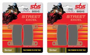 4 Plaquettes de Frein Avant SBS 806 Hs Sinter Kawasaki ZX10R 1000 Ninja 2014