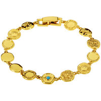 Gorjana Cruz Mixed Coin Gold Bracelet 19520467G