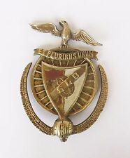 RARE S. L. BENFICA EUROPEAN BI CHAMPION 1961-1962 COMMEMORATIVE BRASS PLAQUE