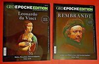 GEO Epoche Edition Nr.19 + 20 2019 Leonardo da Vinci/Rembrandt ungelesen
